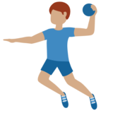 Man Playing Handball: Medium Skin Tone on Twitter Twemoji 12.1.4