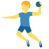 Man Playing Handball on Twitter Twemoji 12.1.4