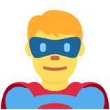 Man Superhero on Twitter Twemoji 12.1.4
