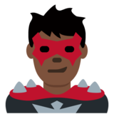 Man Supervillain: Dark Skin Tone on Twitter Twemoji 12.1.4