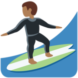 Man Surfing: Medium-Dark Skin Tone on Twitter Twemoji 12.1.4