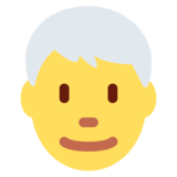 Man: White Hair on Twitter Twemoji 12.1.4