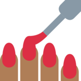 Nail Polish: Medium-Dark Skin Tone on Twitter Twemoji 12.1.4