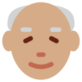 Old Man: Medium Skin Tone on Twitter Twemoji 12.1.4