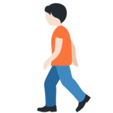 Person Walking: Light Skin Tone on Twitter Twemoji 12.1.4