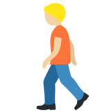 Person Walking: Medium-Light Skin Tone on Twitter Twemoji 12.1.4