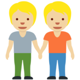 People Holding Hands: Medium-Light Skin Tone on Twitter Twemoji 12.1.4