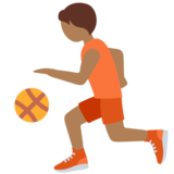 Person Bouncing Ball: Medium-Dark Skin Tone on Twitter Twemoji 12.1.4