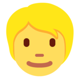 Person: Blond Hair on Twitter Twemoji 12.1.4