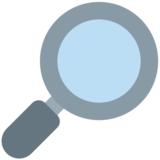Magnifying Glass Tilted Right on Twitter Twemoji 12.1.4