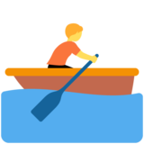 Person Rowing Boat on Twitter Twemoji 12.1.4