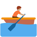 Person Rowing Boat: Medium Skin Tone on Twitter Twemoji 12.1.4