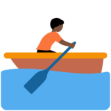 Person Rowing Boat: Dark Skin Tone on Twitter Twemoji 12.1.4