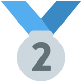 2nd Place Medal on Twitter Twemoji 12.1.4