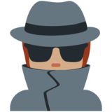 Detective: Medium Skin Tone on Twitter Twemoji 12.1.4