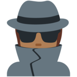 Detective: Medium-Dark Skin Tone on Twitter Twemoji 12.1.4