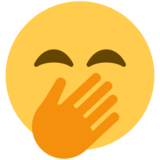 Face with Hand Over Mouth on Twitter Twemoji 12.1.4