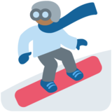Snowboarder: Medium-Dark Skin Tone on Twitter Twemoji 12.1.4
