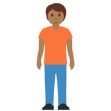 Person Standing: Medium-Dark Skin Tone on Twitter Twemoji 12.1.4