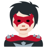 Supervillain: Light Skin Tone on Twitter Twemoji 12.1.4