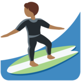 Person Surfing: Medium-Dark Skin Tone on Twitter Twemoji 12.1.4