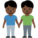 Men Holding Hands: Dark Skin Tone on Twitter Twemoji 12.1.4