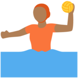 Person Playing Water Polo: Medium-Dark Skin Tone on Twitter Twemoji 12.1.4