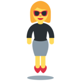 Woman in Business Suit Levitating on Twitter Twemoji 12.1.4