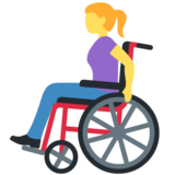 Woman in Manual Wheelchair on Twitter Twemoji 12.1.4