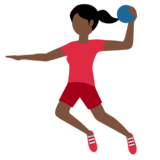 Woman Playing Handball: Dark Skin Tone on Twitter Twemoji 12.1.4
