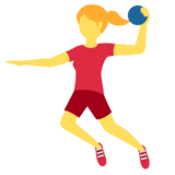 Woman Playing Handball on Twitter Twemoji 12.1.4