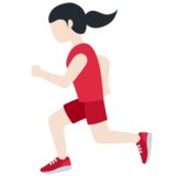 Woman Running: Light Skin Tone on Twitter Twemoji 12.1.4