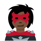 Woman Supervillain: Dark Skin Tone on Twitter Twemoji 12.1.4