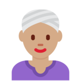 Woman Wearing Turban: Medium Skin Tone on Twitter Twemoji 12.1.4