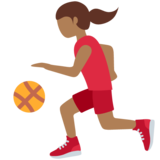 Woman Bouncing Ball: Medium-Dark Skin Tone on Twitter Twemoji 12.1.4
