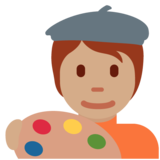Artist: Medium Skin Tone on Twitter Twemoji 12.1.5