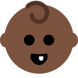 Baby: Dark Skin Tone on Twitter Twemoji 12.1.5