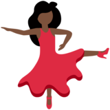 Woman Dancing: Dark Skin Tone on Twitter Twemoji 12.1.5