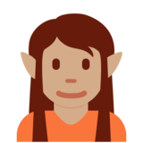 Elf: Medium Skin Tone on Twitter Twemoji 12.1.5