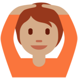 Person Gesturing OK: Medium Skin Tone on Twitter Twemoji 12.1.5