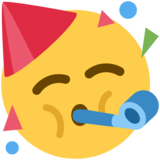 Partying Face on Twitter Twemoji 12.1.5