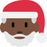 Santa Claus: Dark Skin Tone on Twitter Twemoji 12.1.5
