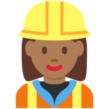 Woman Construction Worker: Medium-Dark Skin Tone on Twitter Twemoji 12.1.5