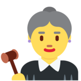 Woman Judge on Twitter Twemoji 12.1.5