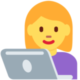 Woman Technologist on Twitter Twemoji 12.1.5