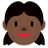 Girl: Dark Skin Tone on Twitter Twemoji 12.1.5