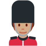 Guard: Medium Skin Tone on Twitter Twemoji 12.1.5