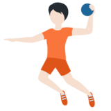 Person Playing Handball: Light Skin Tone on Twitter Twemoji 12.1.5