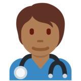 Health Worker: Medium-Dark Skin Tone on Twitter Twemoji 12.1.5