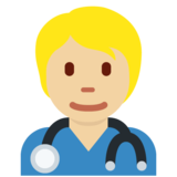 Health Worker: Medium-Light Skin Tone on Twitter Twemoji 12.1.5